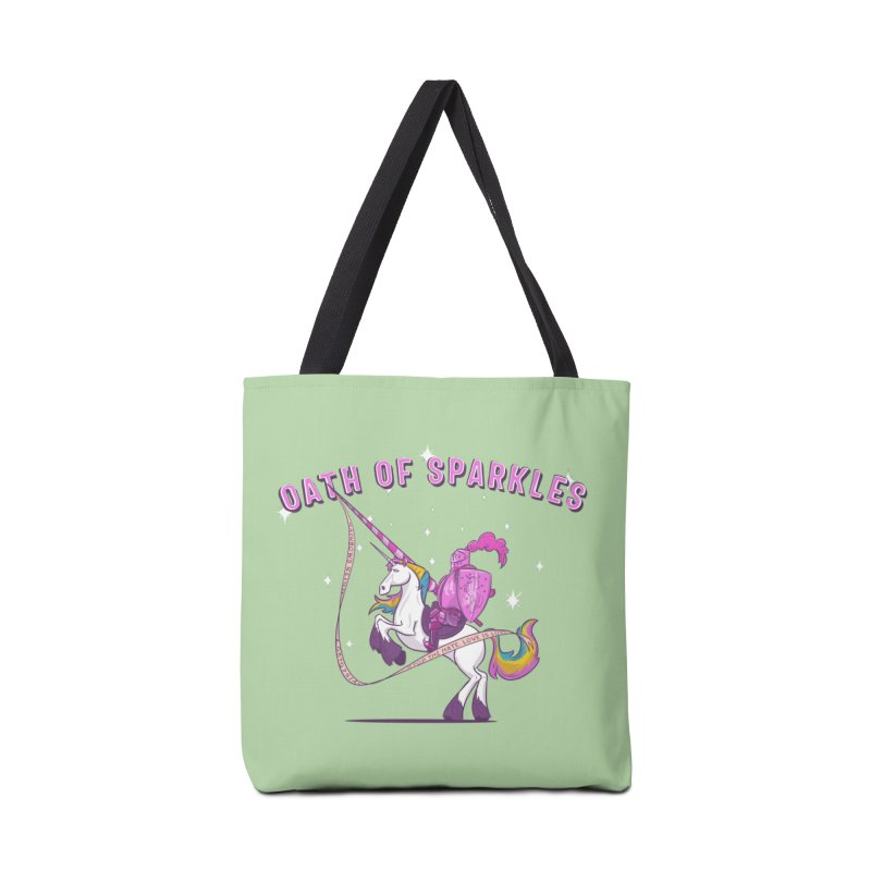The Oath of Sparkles Accessories Tote Bag Bag by March1Studios on Threadless