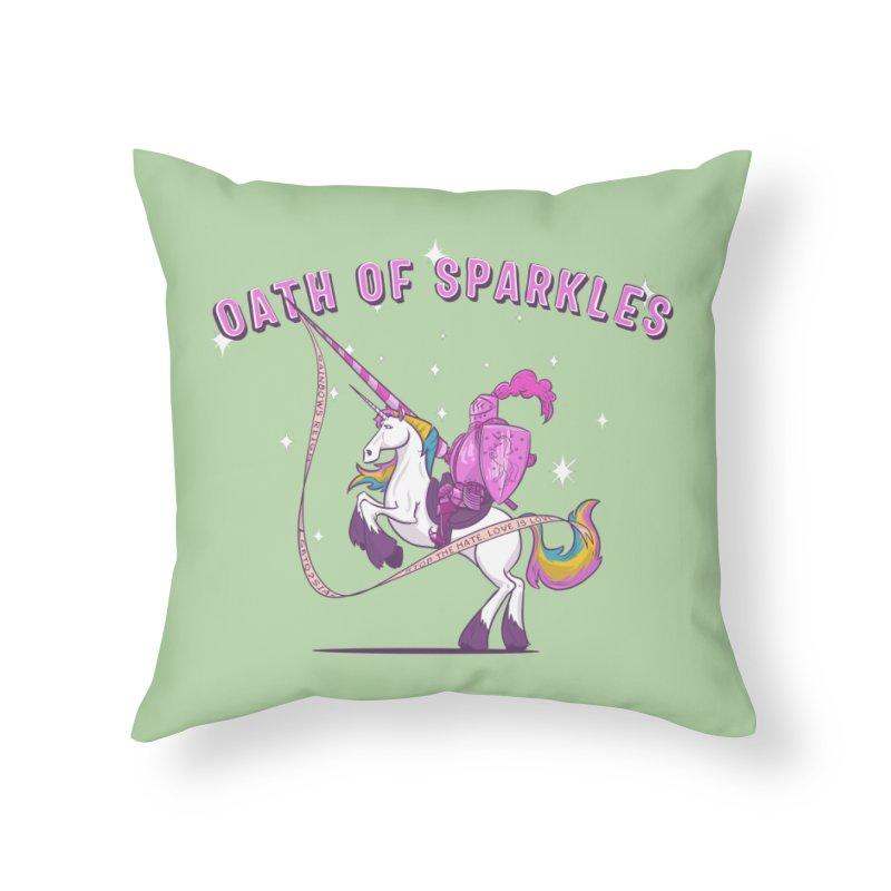 The Oath of Sparkles Home Throw Pillow by March1Studios on Threadless