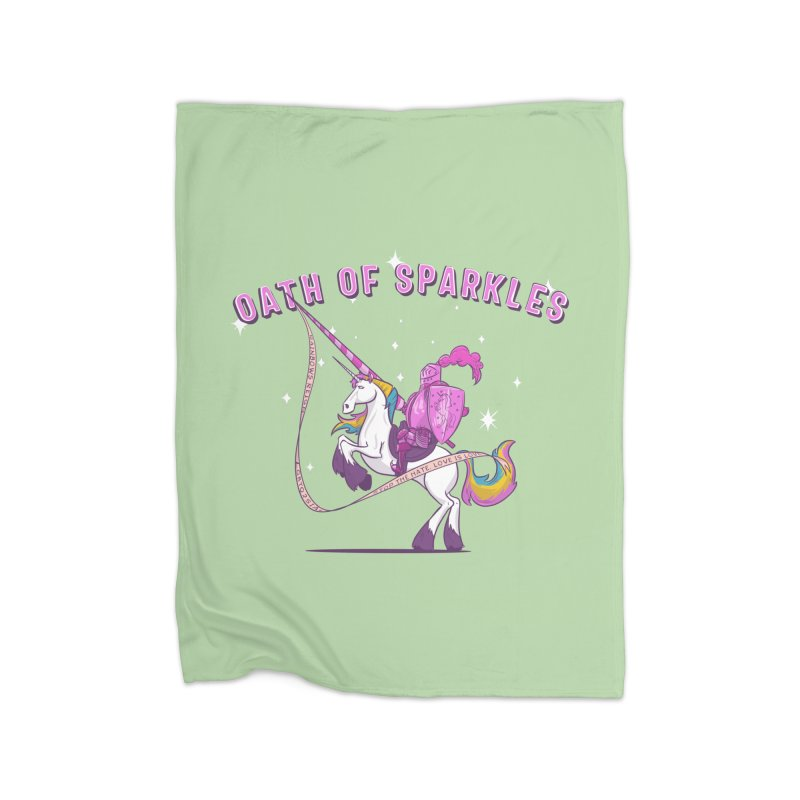 The Oath of Sparkles Home Fleece Blanket Blanket by March1Studios on Threadless
