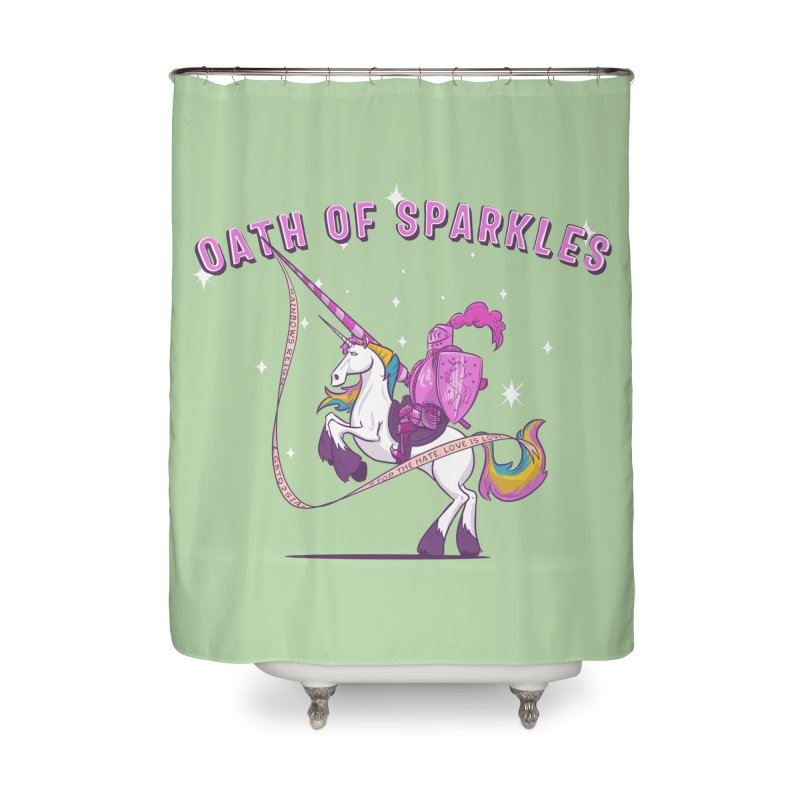 The Oath of Sparkles Home Shower Curtain by March1Studios on Threadless