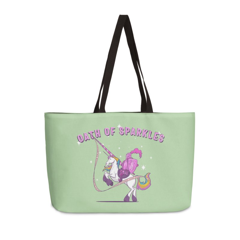 The Oath of Sparkles Accessories Weekender Bag Bag by March1Studios on Threadless