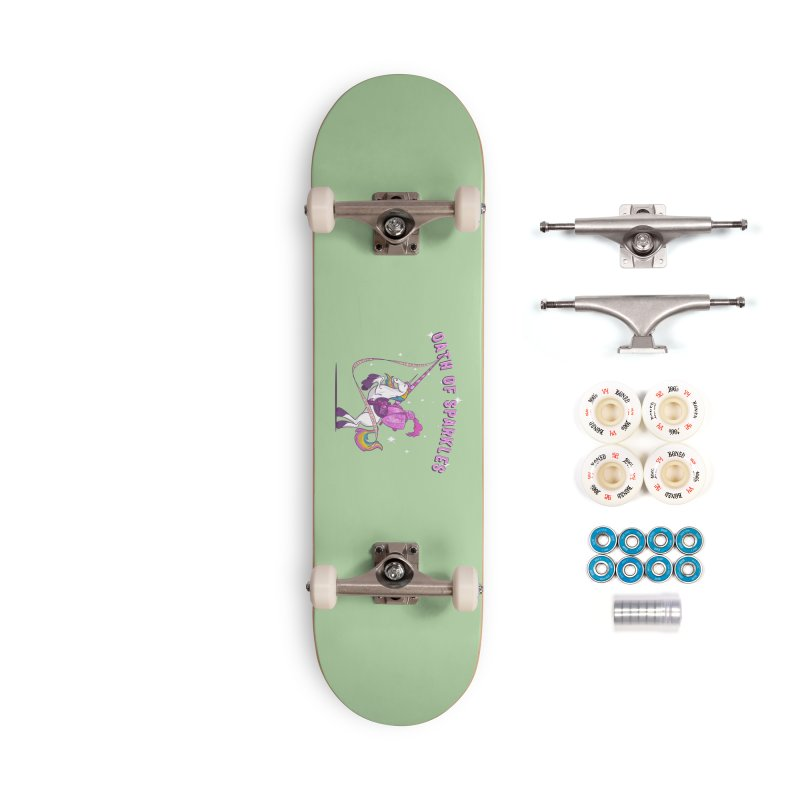 The Oath of Sparkles Accessories Skateboard by March1Studios on Threadless