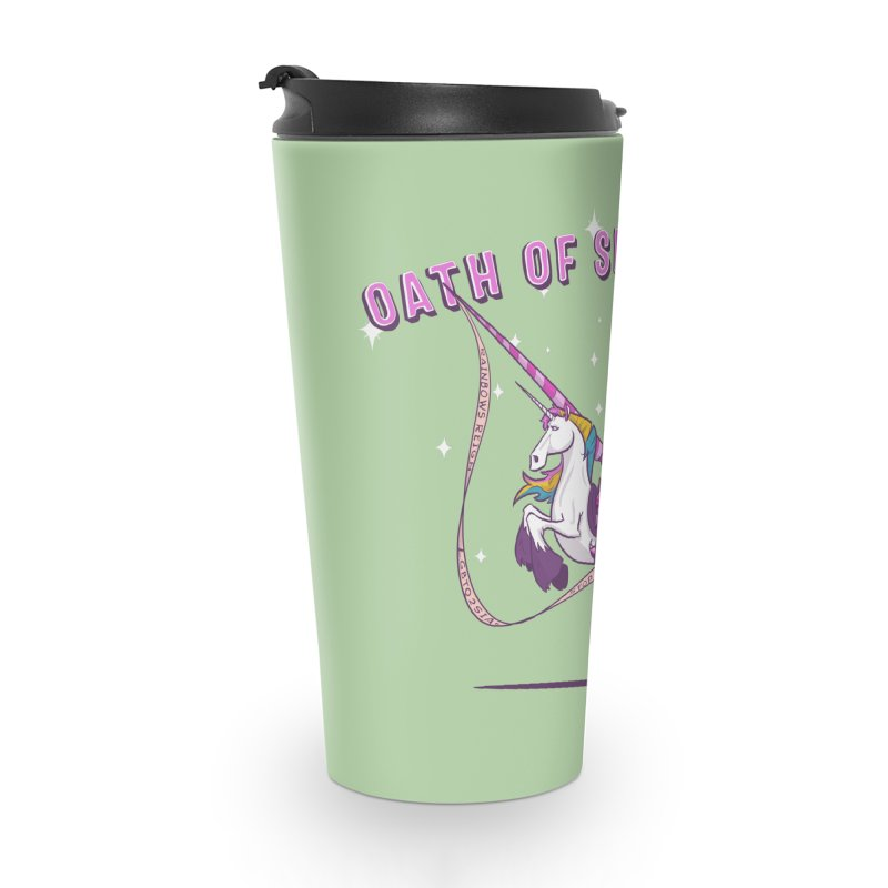 The Oath of Sparkles Accessories Travel Mug by March1Studios on Threadless
