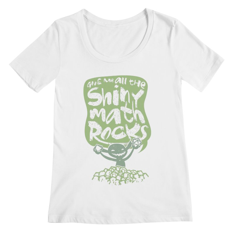 Give Me All The Shiny Math Rocks Women's Regular Scoop Neck by March1Studios on Threadless