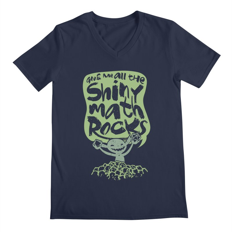 Give Me All The Shiny Math Rocks Men's Regular V-Neck by March1Studios on Threadless