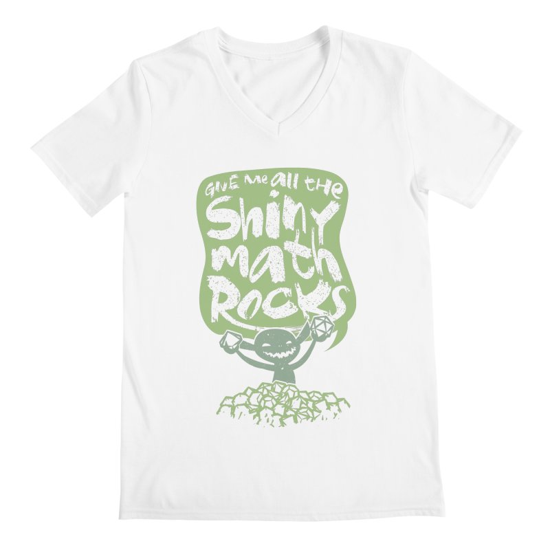 Give Me All The Shiny Math Rocks Men's V-Neck by March1Studios on Threadless