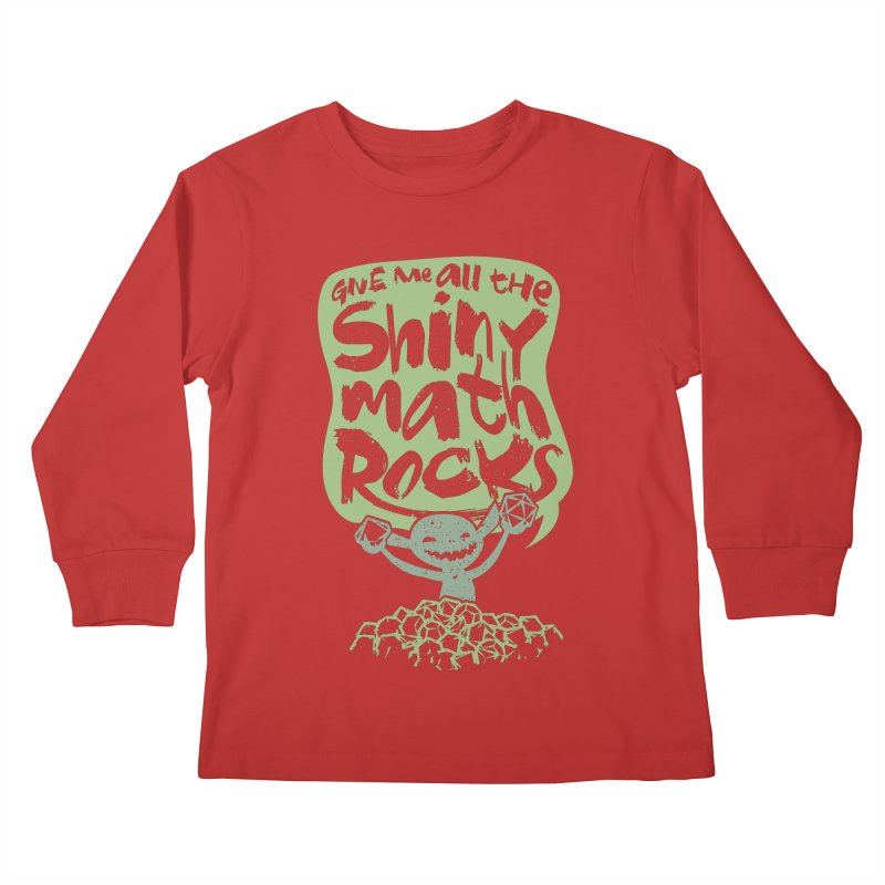 Give Me All The Shiny Math Rocks Kids Longsleeve T-Shirt by March1Studios on Threadless