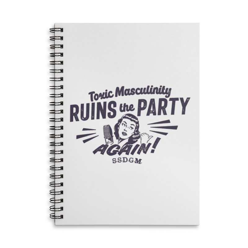 Toxic Masculinity Ruins the Party, Again - Retro Radio Accessories Lined Spiral Notebook by March1Studios on Threadless