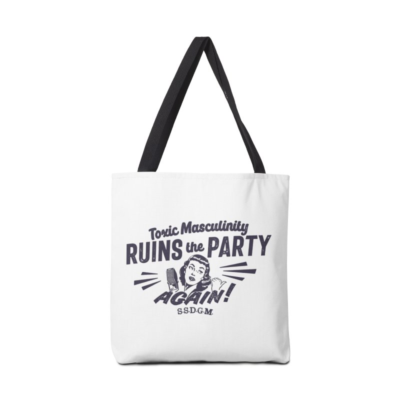Toxic Masculinity Ruins the Party, Again - Retro Radio Accessories Tote Bag Bag by March1Studios on Threadless