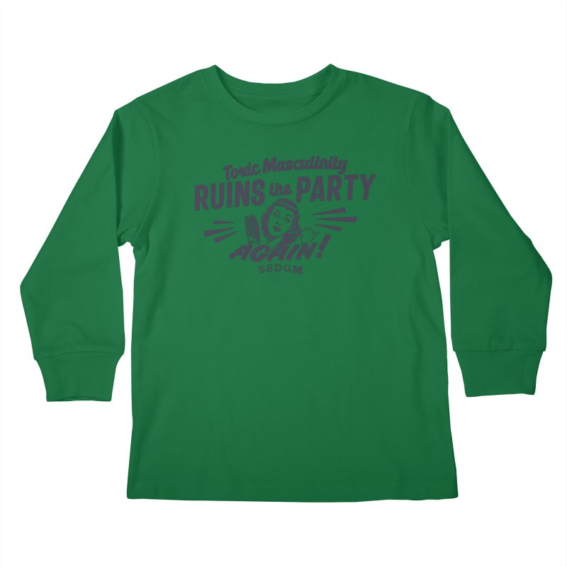 Toxic Masculinity Ruins the Party, Again - Retro Radio Kids Longsleeve T-Shirt by March1Studios on Threadless