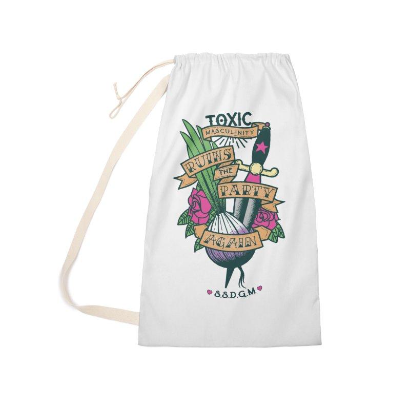 Toxic Masculinity Ruins the Party, Again - American Traditional Accessories Laundry Bag Bag by March1Studios on Threadless