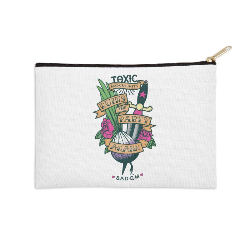 Toxic Masculinity Ruins the Party, Again - American Traditional Accessories Zip Pouch by March1Studios on Threadless