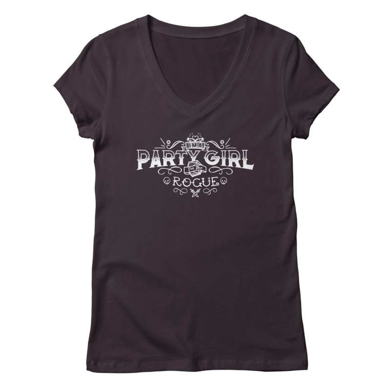 Party Girl: Rogue Women's Regular V-Neck by March1Studios on Threadless