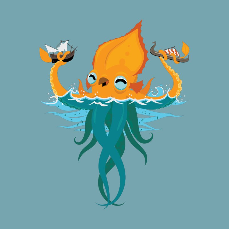 Kraken Cute by March1Studios on Threadless