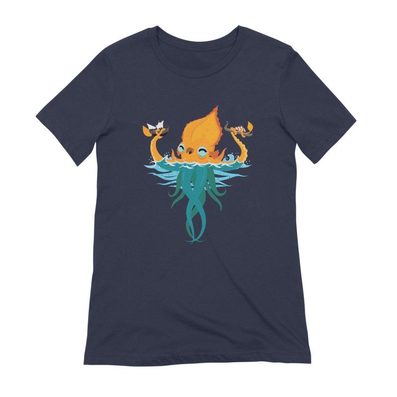 Kraken Cute Women's Extra Soft T-Shirt by March1Studios on Threadless