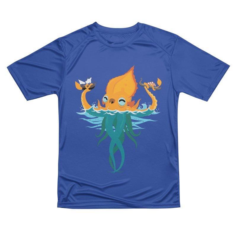Kraken Cute Men's Performance T-Shirt by March1Studios on Threadless
