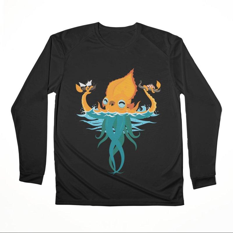 Kraken Cute Women's Performance Unisex Longsleeve T-Shirt by March1Studios on Threadless