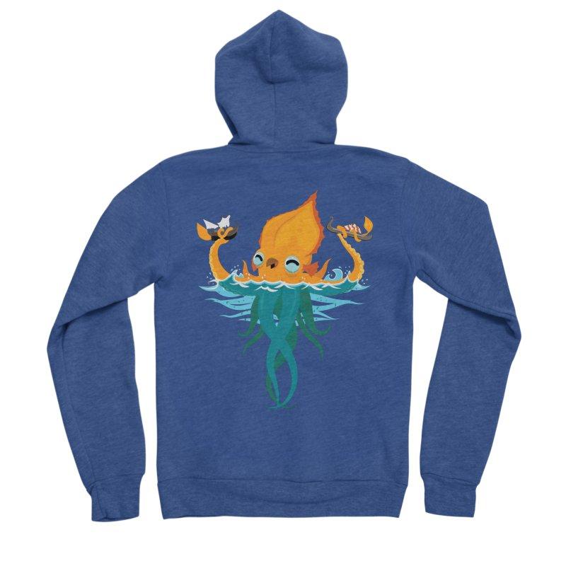 Kraken Cute Women's Sponge Fleece Zip-Up Hoody by March1Studios on Threadless