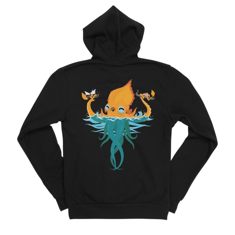 Kraken Cute Women's Sponge Fleece Zip-Up Hoody by March1Studios on Threadless