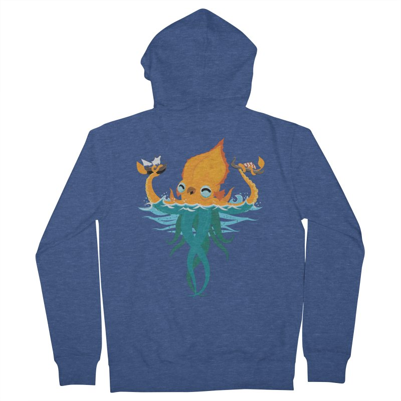 Kraken Cute Men's French Terry Zip-Up Hoody by March1Studios on Threadless
