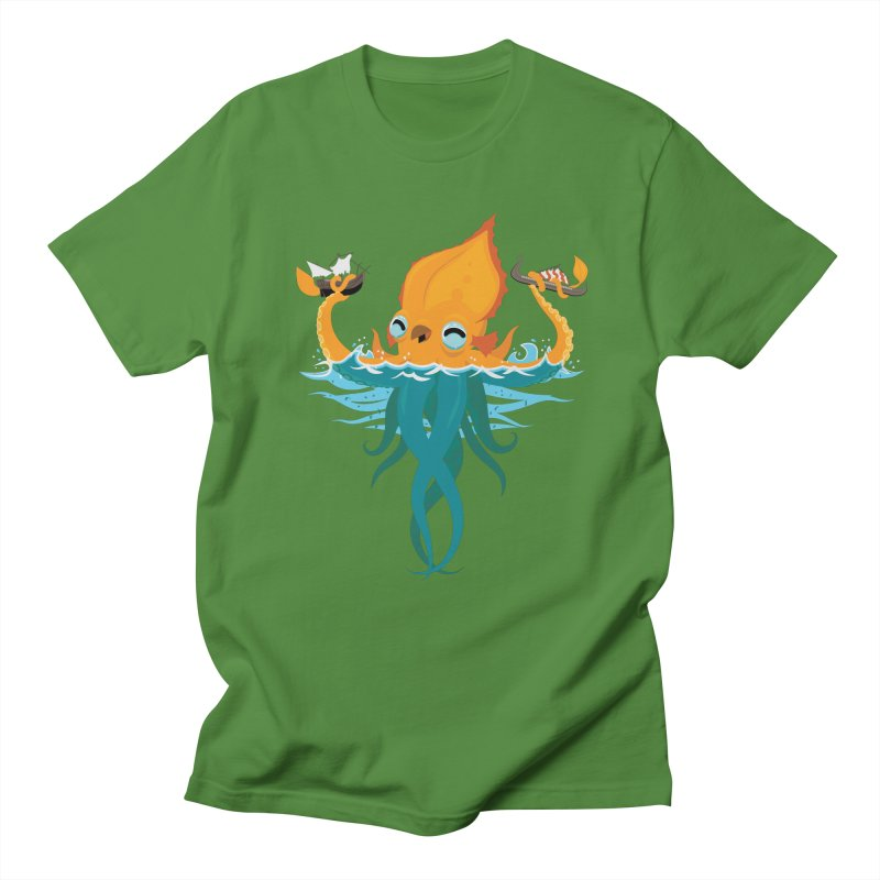 Kraken Cute Men's Regular T-Shirt by March1Studios on Threadless