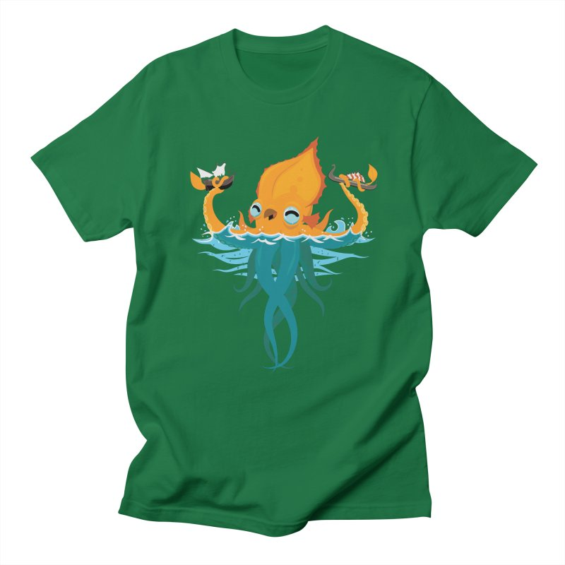 Kraken Cute Men's T-Shirt by March1Studios on Threadless