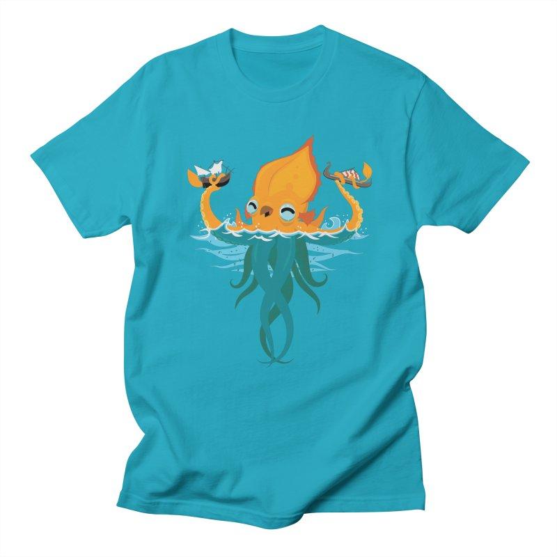 Kraken Cute Women's Regular Unisex T-Shirt by March1Studios on Threadless