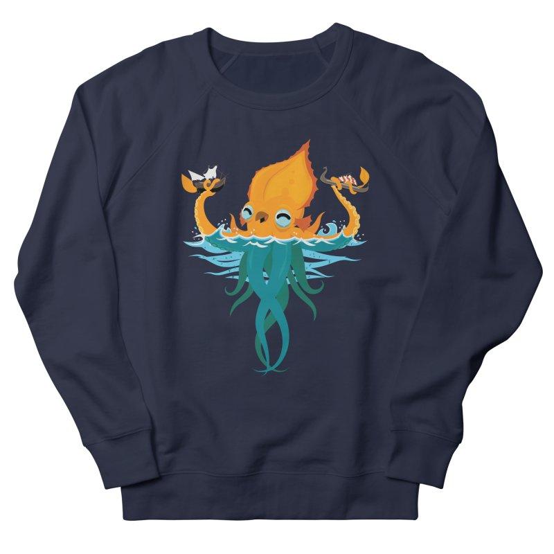 Kraken Cute Women's French Terry Sweatshirt by March1Studios on Threadless