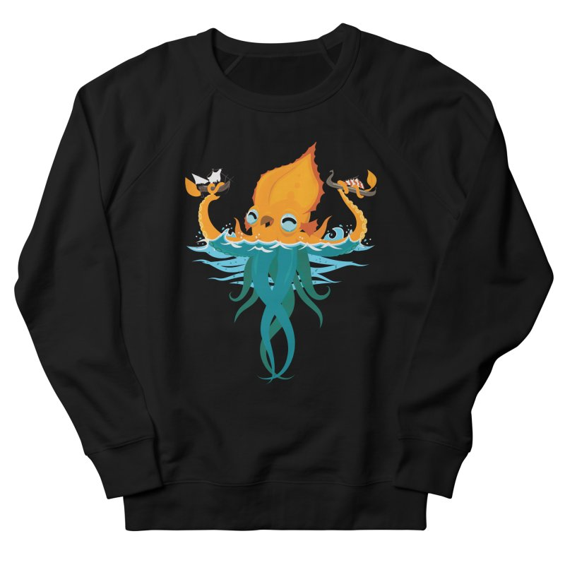 Kraken Cute Men's French Terry Sweatshirt by March1Studios on Threadless