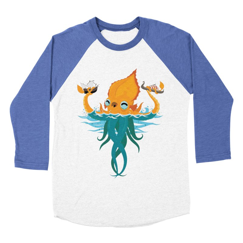Kraken Cute Women's Baseball Triblend Longsleeve T-Shirt by March1Studios on Threadless