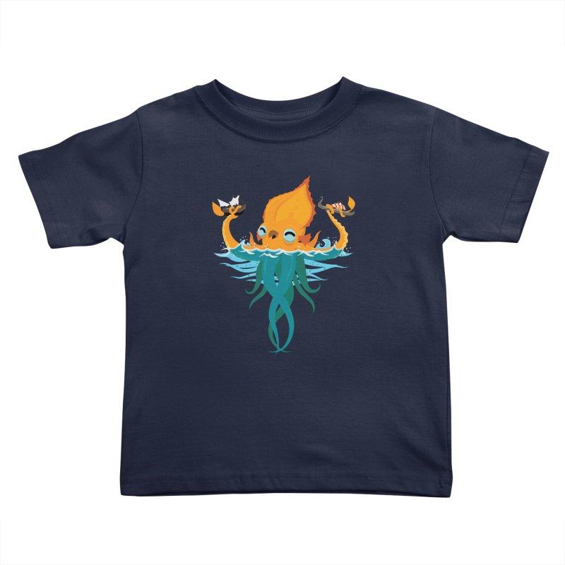 Kraken Cute Kids Toddler T-Shirt by March1Studios on Threadless