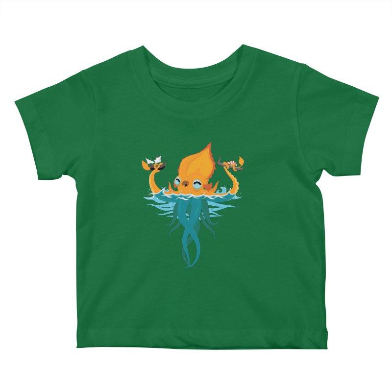 Kraken Cute Kids Baby T-Shirt by March1Studios on Threadless