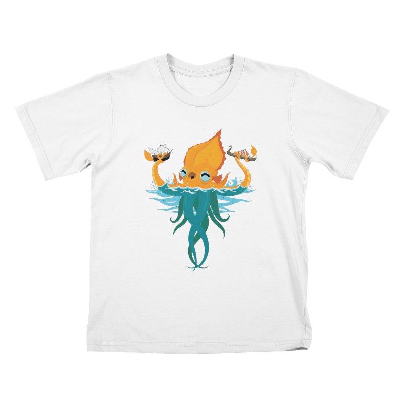 Kraken Cute Kids T-Shirt by March1Studios on Threadless