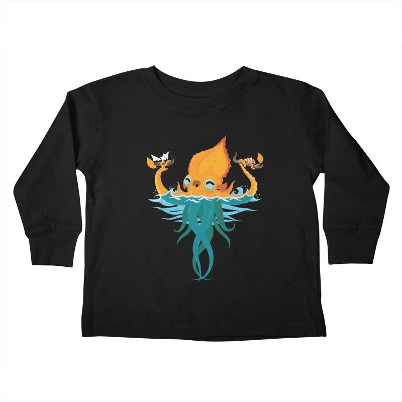 Kraken Cute Kids Toddler Longsleeve T-Shirt by March1Studios on Threadless