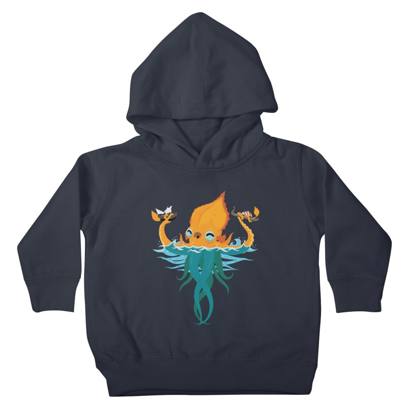 Kraken Cute Kids Toddler Pullover Hoody by March1Studios on Threadless