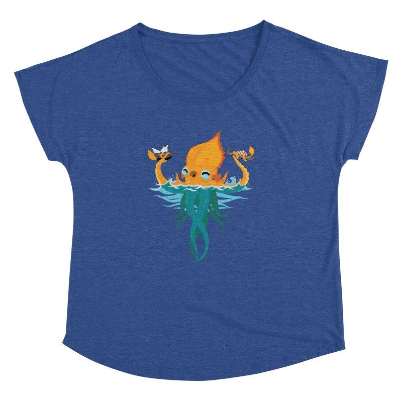 Kraken Cute Women's Dolman Scoop Neck by March1Studios on Threadless