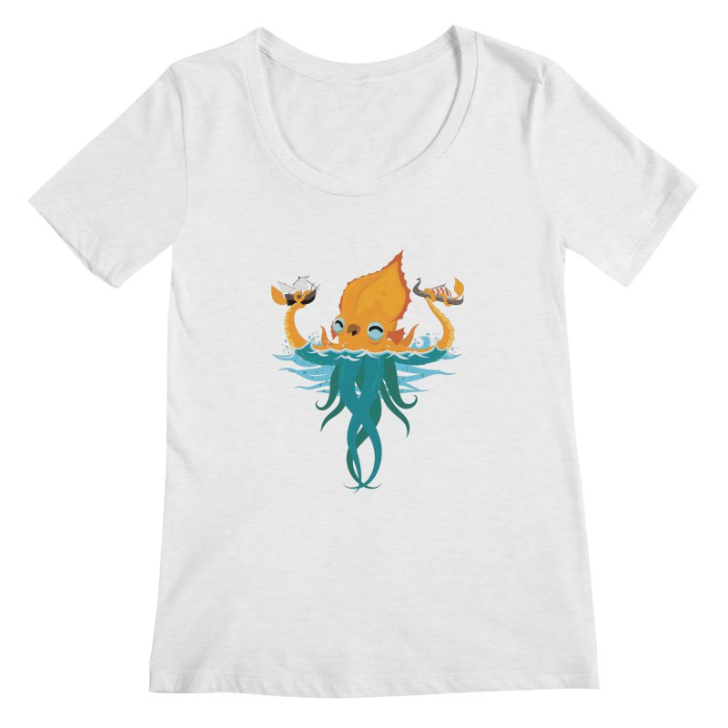 Kraken Cute Women's Regular Scoop Neck by March1Studios on Threadless