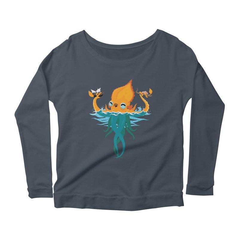 Kraken Cute Women's Scoop Neck Longsleeve T-Shirt by March1Studios on Threadless