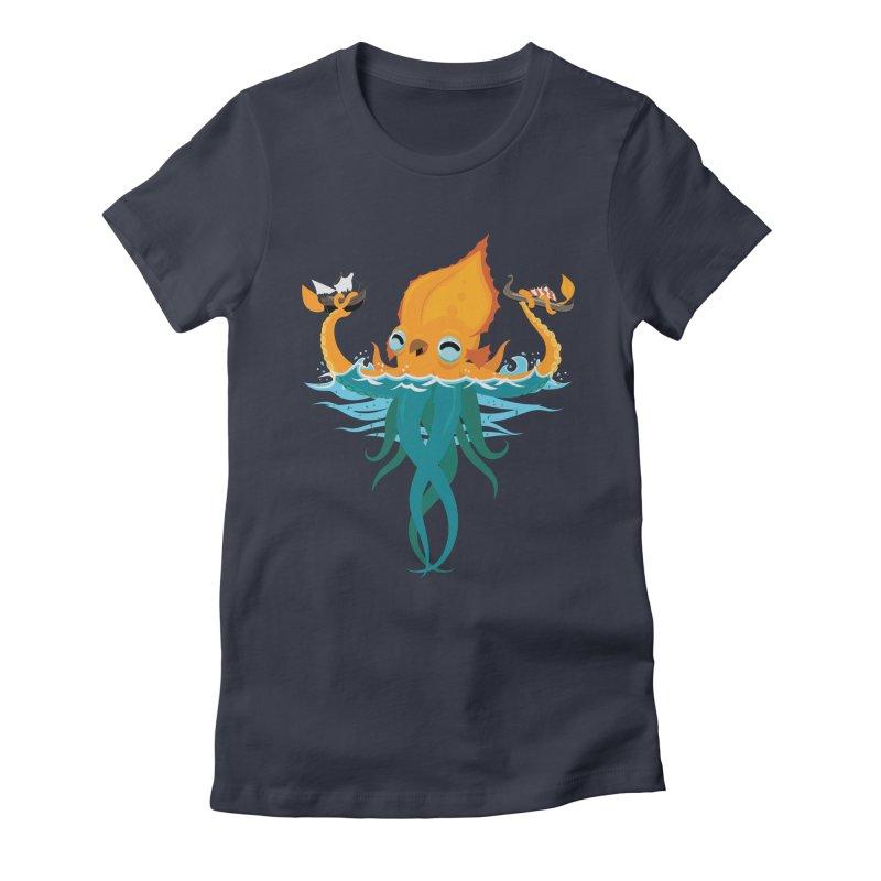 Kraken Cute Women's Fitted T-Shirt by March1Studios on Threadless