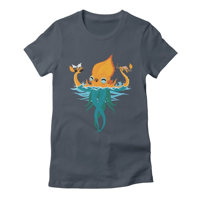 Kraken Cute Women's T-Shirt by March1Studios on Threadless