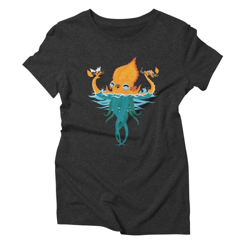 Kraken Cute Women's Triblend T-Shirt by March1Studios on Threadless