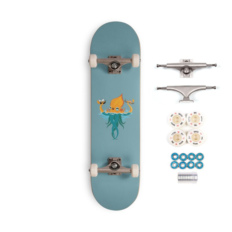 Kraken Cute Accessories Complete - Premium Skateboard by March1Studios on Threadless