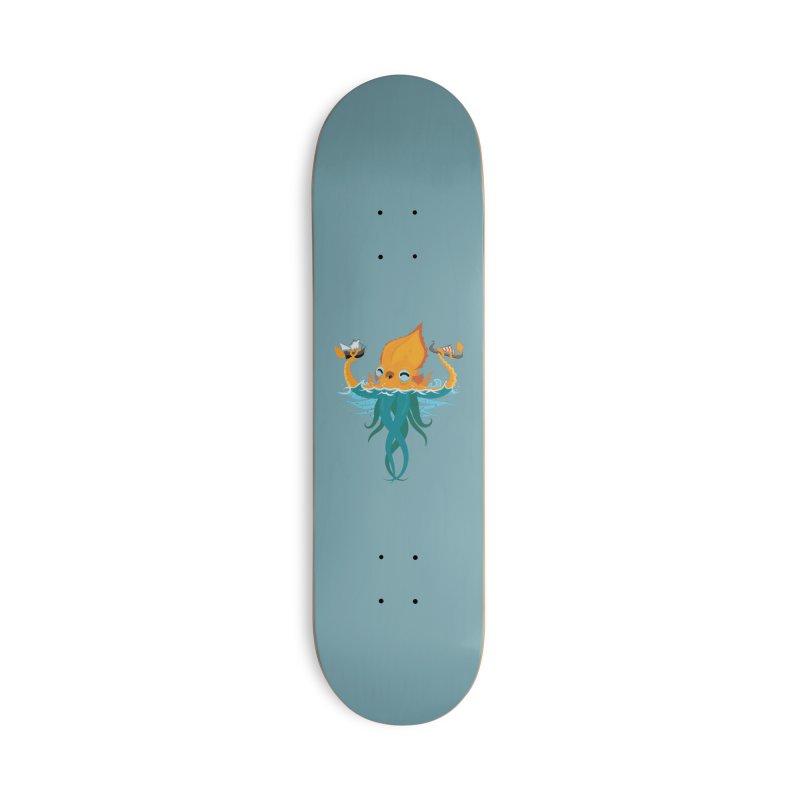 Kraken Cute Accessories Deck Only Skateboard by March1Studios on Threadless
