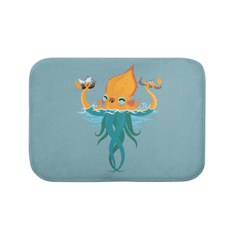 Kraken Cute Home Bath Mat by March1Studios on Threadless