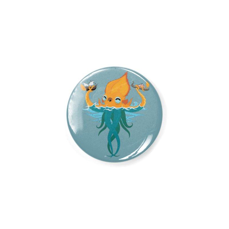 Kraken Cute Accessories Button by March1Studios on Threadless