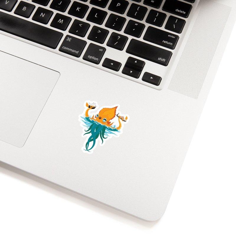 Kraken Cute Accessories Sticker by March1Studios on Threadless