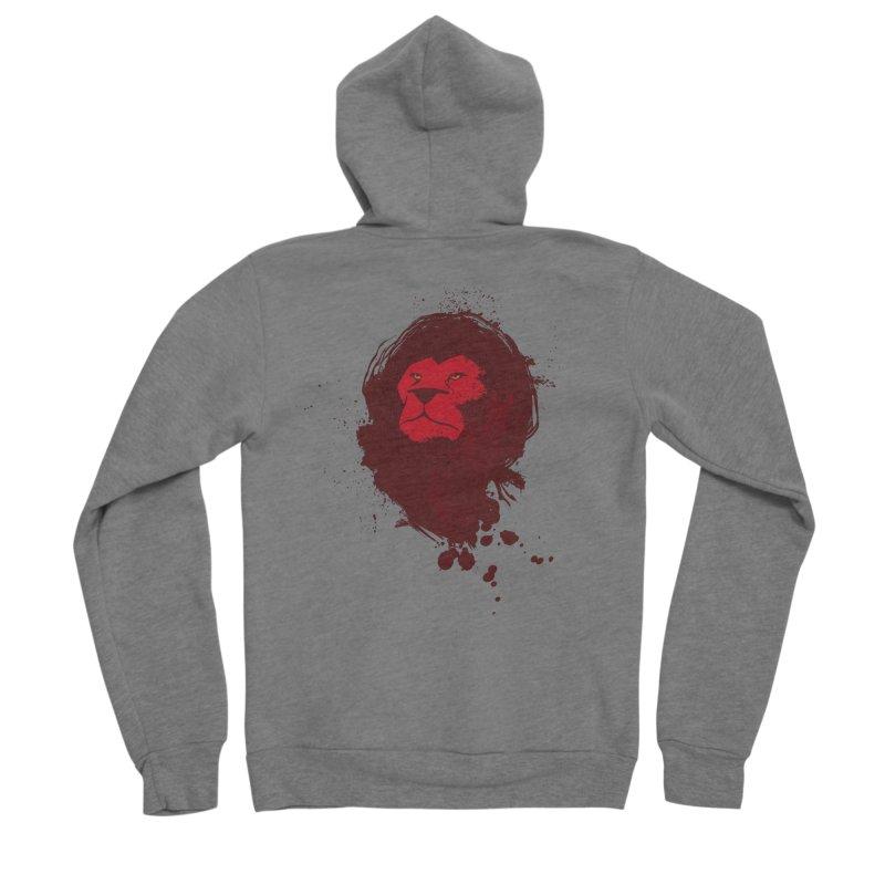 March1Studios - Lion Head Logo Women's Sponge Fleece Zip-Up Hoody by March1Studios on Threadless