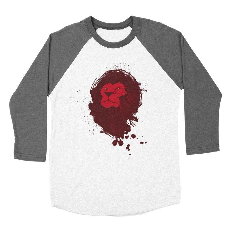 March1Studios - Lion Head Logo Women's Baseball Triblend Longsleeve T-Shirt by March1Studios on Threadless