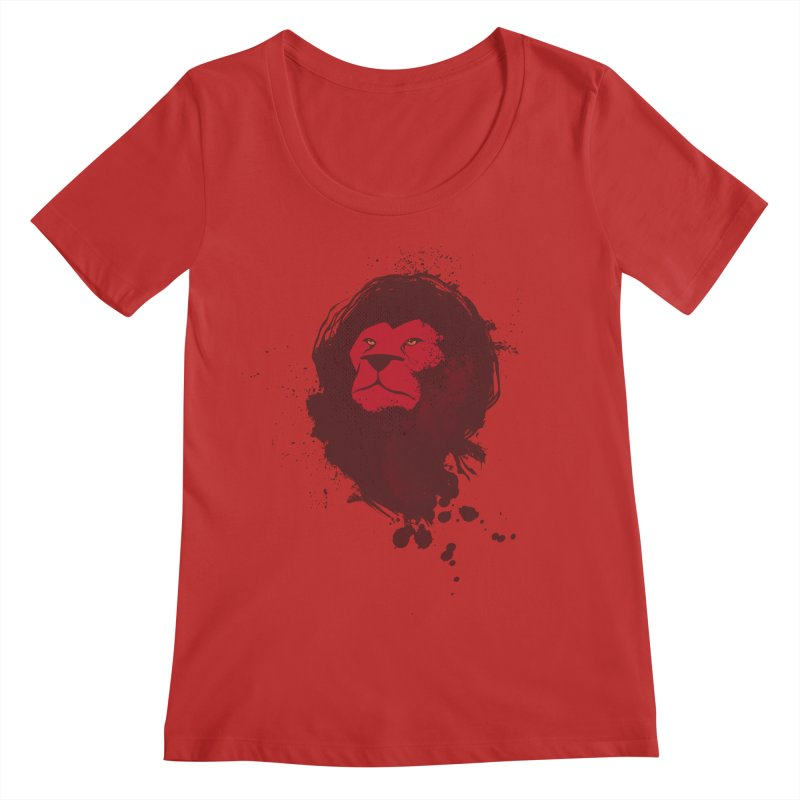 March1Studios - Lion Head Logo Women's Regular Scoop Neck by March1Studios on Threadless