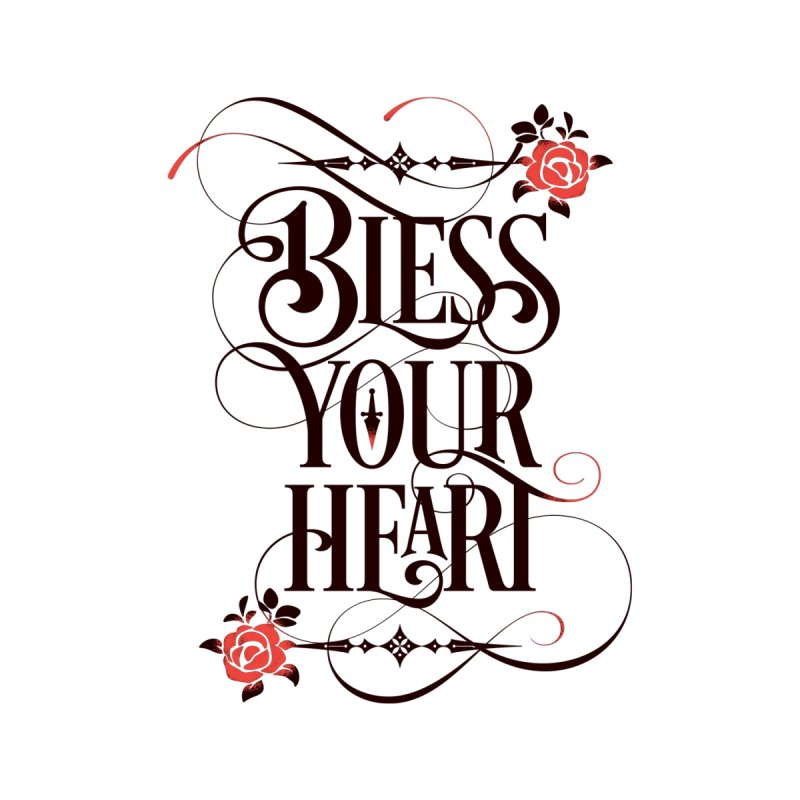 Bless Your Heart - Light Women's V-Neck by March1Studios on Threadless